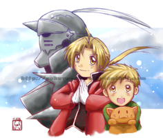 ::FMA:: Three Alphonses by Sakura-Star