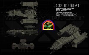 USCSS Nostromo ortho by unusualsuspex