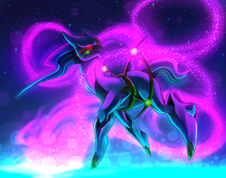 .:Arceus:. Between time and space by LuneTheTiger