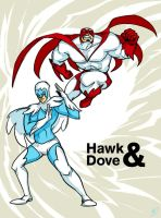 Fanart: Hawk and Dove by huehermit
