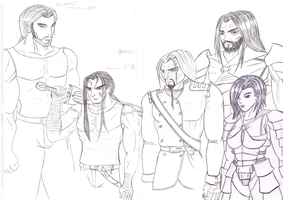Main characters of the dungeon by Salaxus