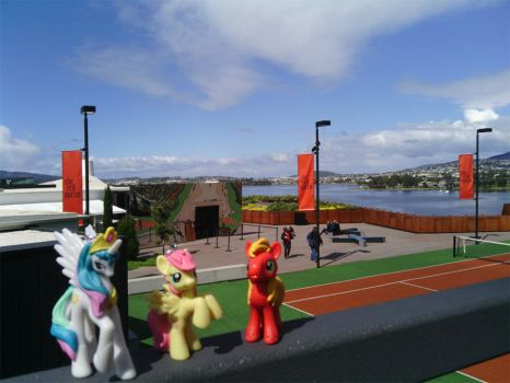 Ponies at MONA by Cyberjepp