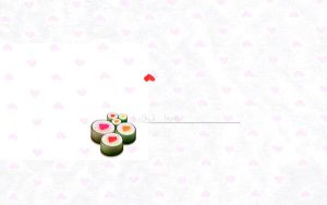 Sushi Love wallpaper by floina