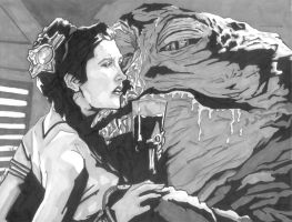 Jabba's Slave by monstercola