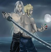FF7 - Seph and Cloud coloured by eikiel