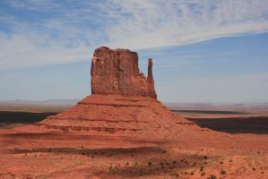 Mitten butte in the sun by Dr-J-Zoidberg