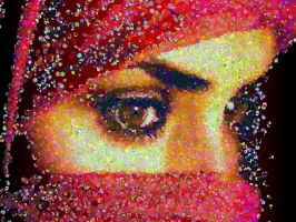 Eyes photo mosaic by Mosaikify