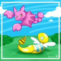 Gligar and Dunsparce