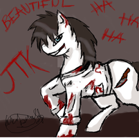 Jeff the killer ponified quick sketch by jashinist112