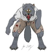 Some werewolf guy by Wolf-DX