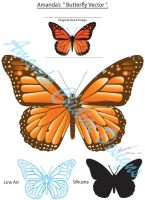 Butterfly Vector by MissCreative82