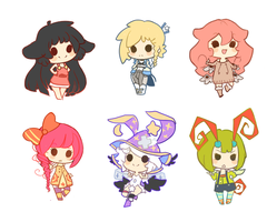 Mini chibis 01 by xephia