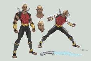 Redesign Aqualad by Toks-S