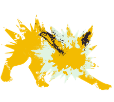 Jolteon Paint Splatter Graphics by HollysHobbies