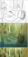 Dream Forest Process by Jermmgirl
