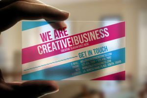 Transparent Plastic Business Card by artnook