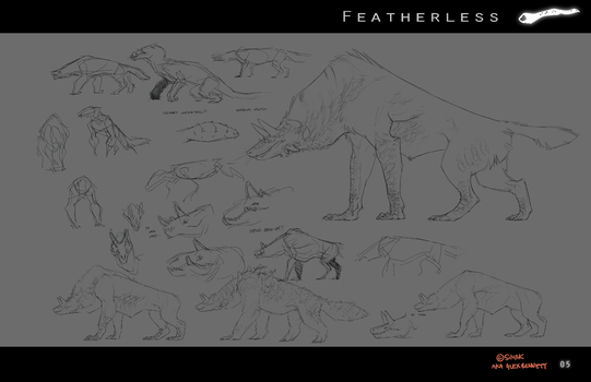 Featherless: The Atukybo initial sketches by Sarspax