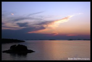 Islands at dusk by Sazo92