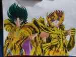 Shura and Aioros-Saint Seiya by VRCSK02