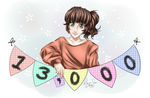 13,000 Pageviews!!! THANK YOU!!! by Ruehara