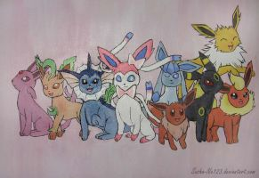 The Eeveelutions by Sasha-Ne123