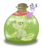 GreenFairy Bottle by PegasusXIII