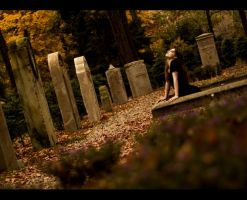 Bella in the cemetery by AnilorakGoldini