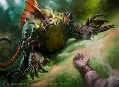 MtG M11: Greater Basilisk by namesjames