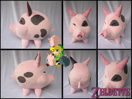 Windwaker pig plush - Zelda by Miss-Zeldette