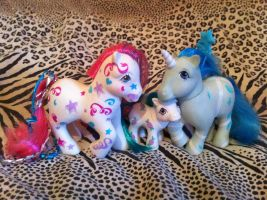 Birthday Pony, Baby Candy, + custom Peppermint by Candy-Bang