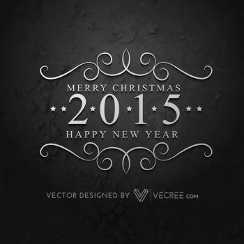 Creative 2015 Happy New Year Free Vector by vecree