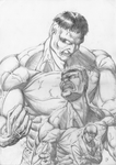 Hulk transformation (pencil) by D-KenSama78