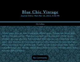 Blue Chic Vintage Skin by Idontknowwhoyouknow