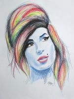 Amy Winehouse Portrait by emma143