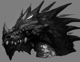 Black Dragon Head by Kinjy-Dizp35
