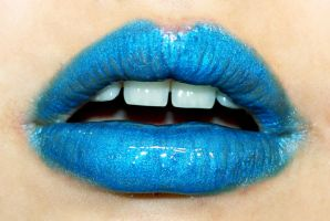 Blue Lips2 by Skittles52Stock