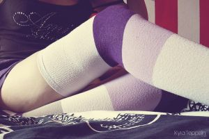 Purple socks. by KyraTeppelin