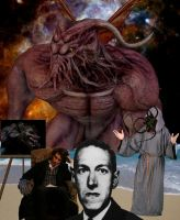 H.P. Lovecraft by Morkos