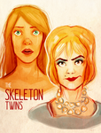 skeleton twins by hazumonster