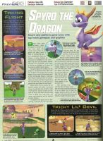 Spyro-Scanned StD Page from Playstation Magazine by KrazyKari