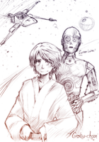 Luke . C3PO by Goku-chan