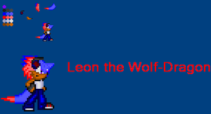 .:Request:. Leon the Wolf-Dragon by GhosttheHedgehog12