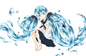 [VOCALOID] bottle miku by 150c