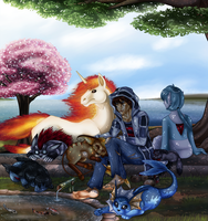 Resting under a tree by Innuo