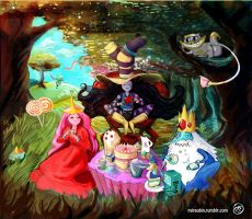 tea time in wonderland by Miraubin