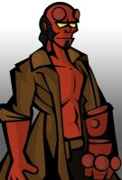 Hellboy Simple by razorface123