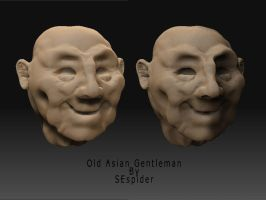3D__Old Asian Gentleman by SEspider