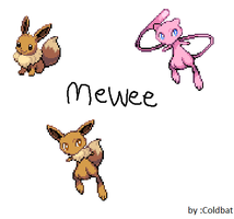 Pokemon Fusion Mewee by coldbat