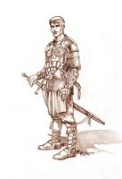 selfportrait in armour by Sedeslav