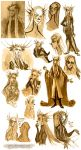 Thranduil and son - sketches by Eis91